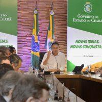 GOVERNADOR E SECRETARIOS EM REUNIAO COM A BANCADA DE DEPUTADOS FEDERAIS CEARENSES