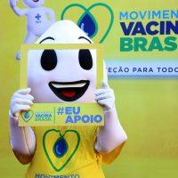 Lançamento da Campanha Nacional de Vacinação contra a Gripe, durante cerimônia em Porto Alegre.