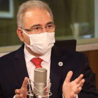 O ministro da Saúde, Marcelo Queiroga, participa do programa A Voz do Brasil