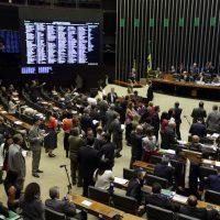 O presidente da Câmara dos Deputados, Rodrigo Maia durante aprovação de Medida Provisória sobre venda de petróleo do pré-sal.
