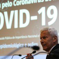 O secretário executivo do Ministério da Saúde, João Gabbardo dos Reis, divulga dados atualizados sobre novo coronavírus