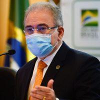 O ministro da Saúde, Marcelo Queiroga, durante anúncio do plano de vacinação de atletas e credenciados da Delegação Brasileira para os jogos de Tóquio.